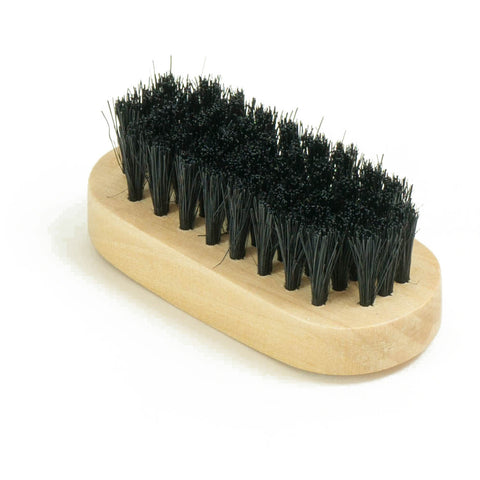 "3"" Round Wooden Suede Black Brush"