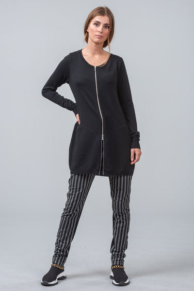 MATRIX - merino cardigan - charcoal