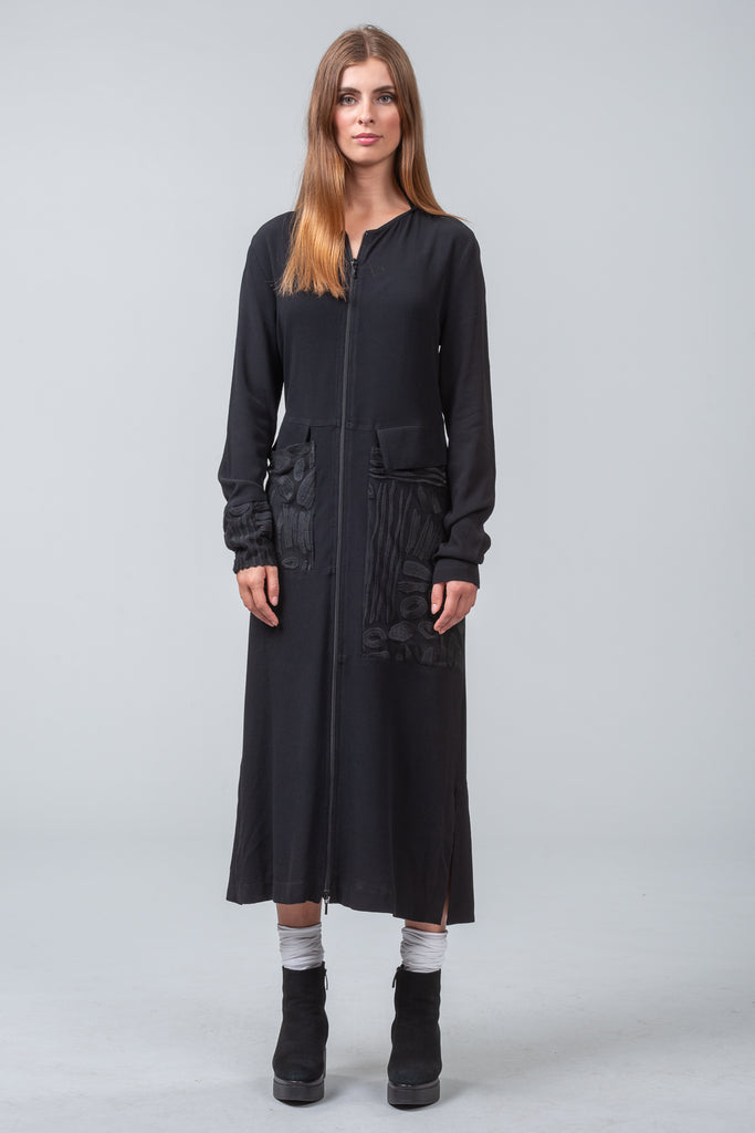 OFFSET DRESS - black