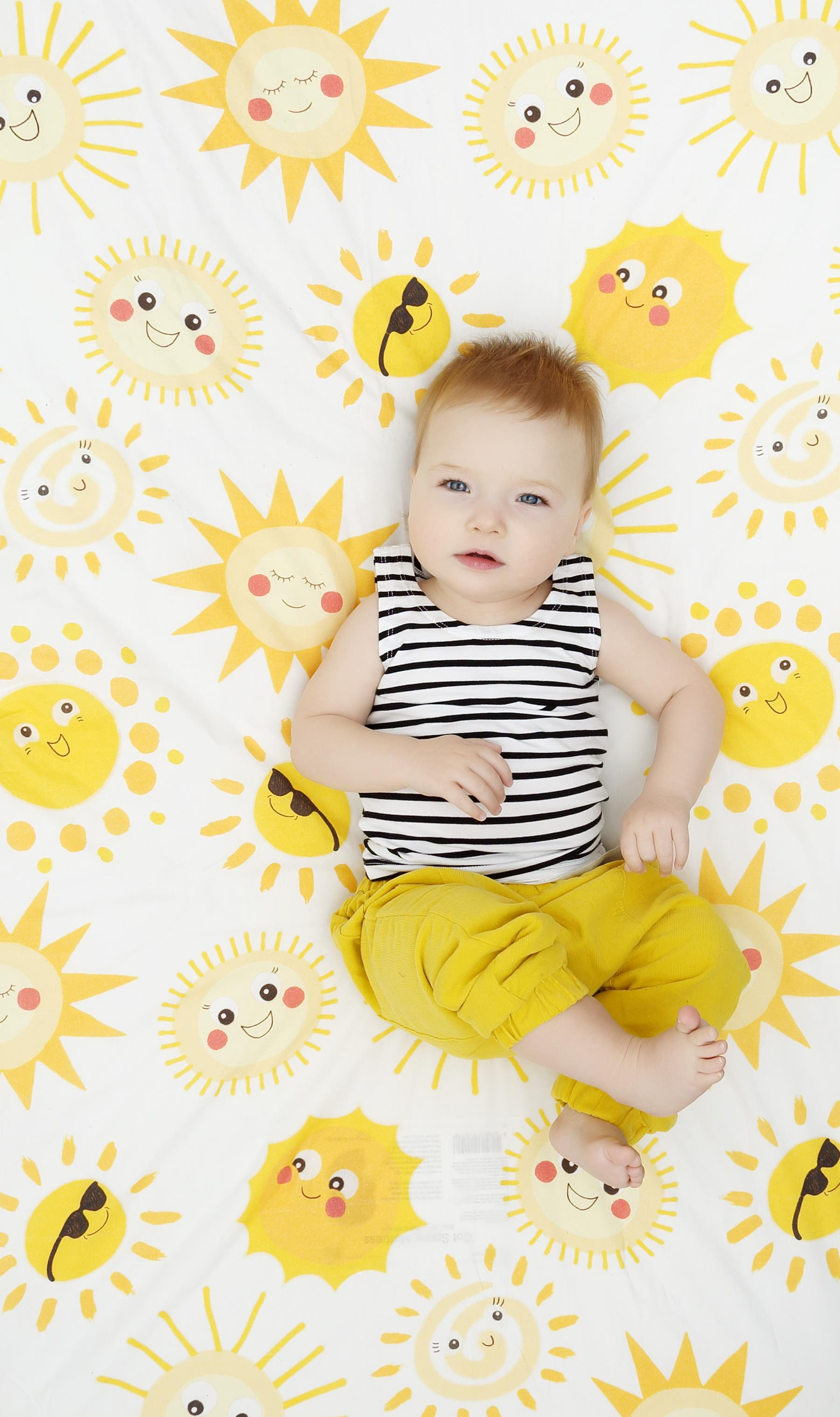 Sunny Side Fitted Cot Sheet