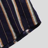 Vertical Striped Summer Short Sleeve Mens Casual Fashion Shirts