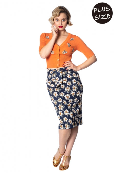Banned Apparel - Beach Babe Pencil Skirt Plus Size