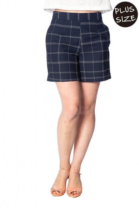 Banned Apparel - Chill Checks Short Plus Size