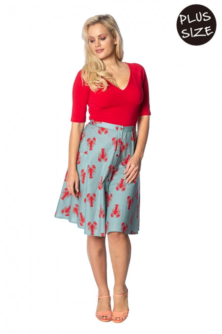 Banned Apparel - Lobster Love Skirt Plus Size