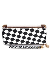Banned Apparel - White Black Checkerboard Wallet - Egg n Chips London