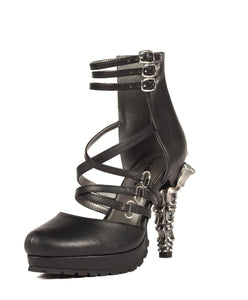 Hades Shoes - Verne Goth Inspired Prehistoric Claw Heel - Egg n Chips London