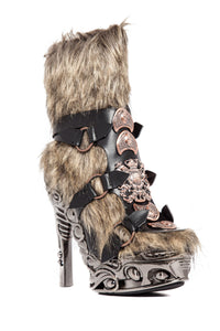 Hades Shoes - Yettah Fur Skin Platform - Egg n Chips London