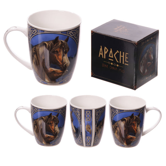 Egg n Chips London - New Bone China Mug - Apache Horse Design - Egg n Chips London