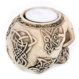 Egg n Chips London - Celtic Skull Head Tealight Holder - Egg n Chips London