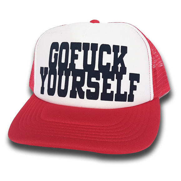 Toxico Clothing - GFY Trucker Hat (Red/White) - Egg n Chips London