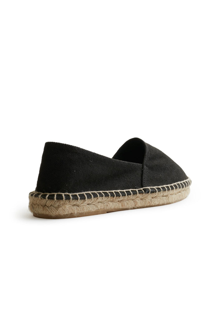 men's cotton pique classic espadrille in black