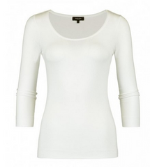 Claudia Strater Base Top with 3/4 Sleeves in Off-White