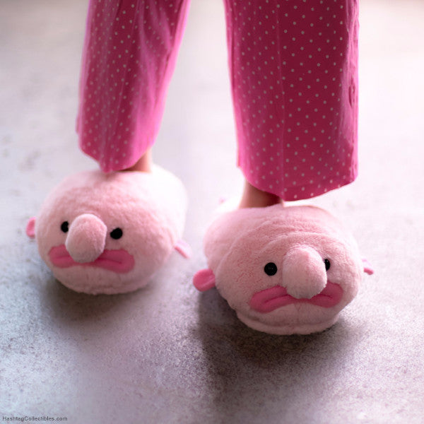 Blobfish slippers by Hashtag Collectibles