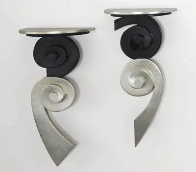 Black N Silver Wall Brackets - Set of 2