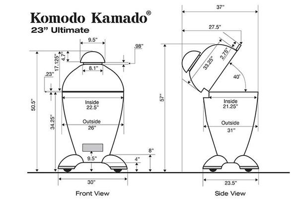 23 Ultimate, CAD Drawing - KomodoKamado