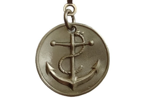 Pewter Anchor Ceiling Fan Pull Chain
