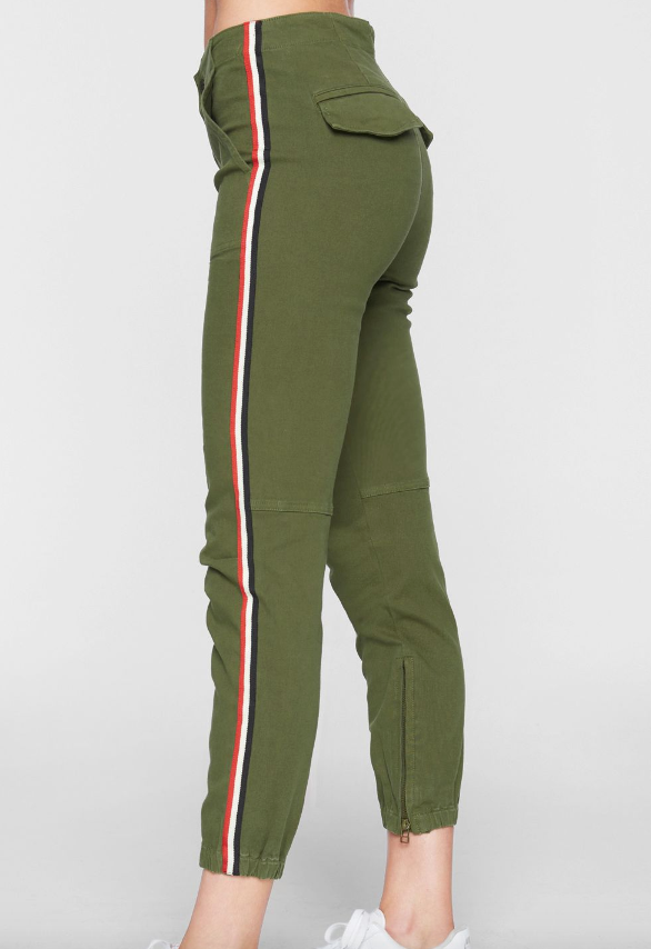 Pam & Gela Side Stripe Cargo Pants
