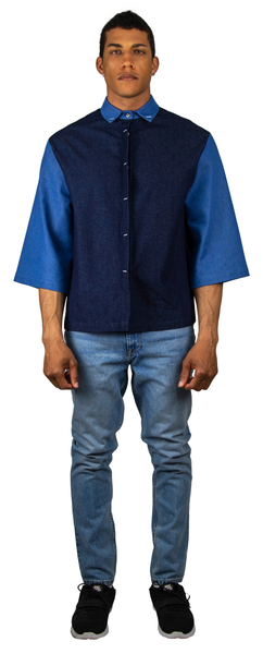 Saul Denim Button-Up Shirt