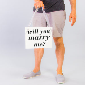 Will You Marry Me Proposal Banner