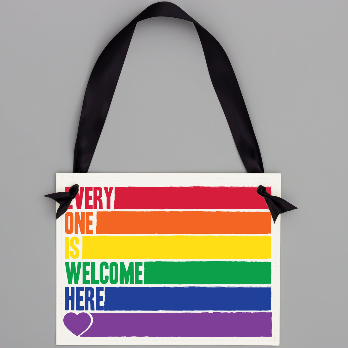 Everyone Is Welcome Here Wall Hanging Banner