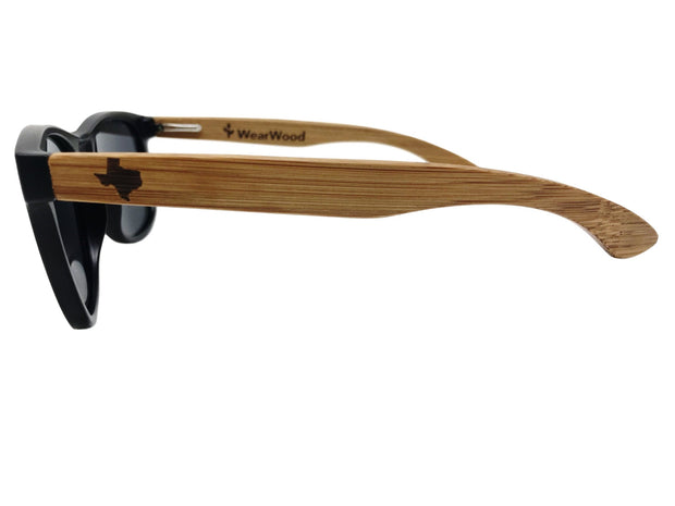 State of Texas Classic Black Bamboo Sunglasses