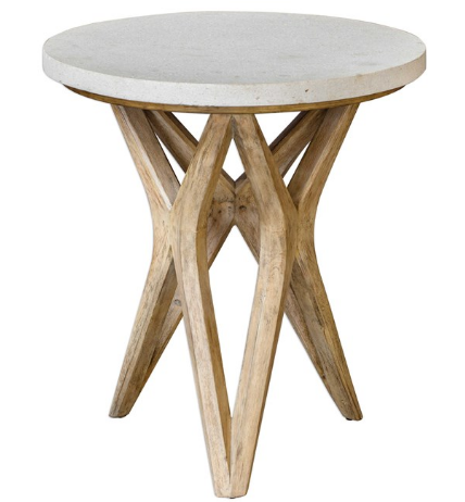 Limestone Accent Table