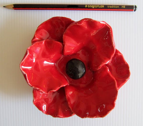 Ceramic Poppy from Paddy Bourke Designs