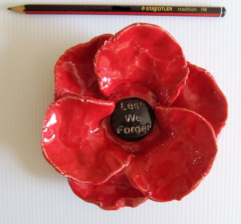 Ceramic Poppy : Lest we Forget