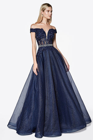 Shimmering Princess Gown With Lace & Austrian Crystal Embroidery Style # ciAM140 | 2019 Prom New Arrivals