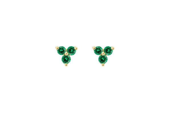 EF Collection Emerald Trio Studs - 1