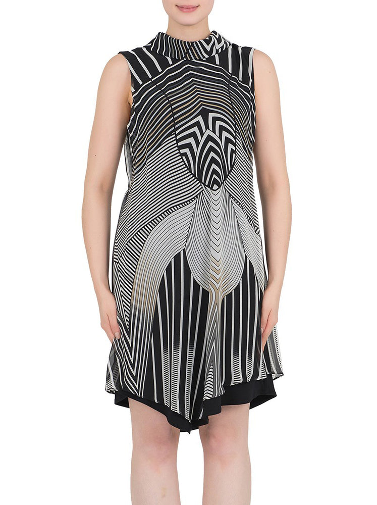 Joseph Ribkoff Black Grey Multi-tone Dress