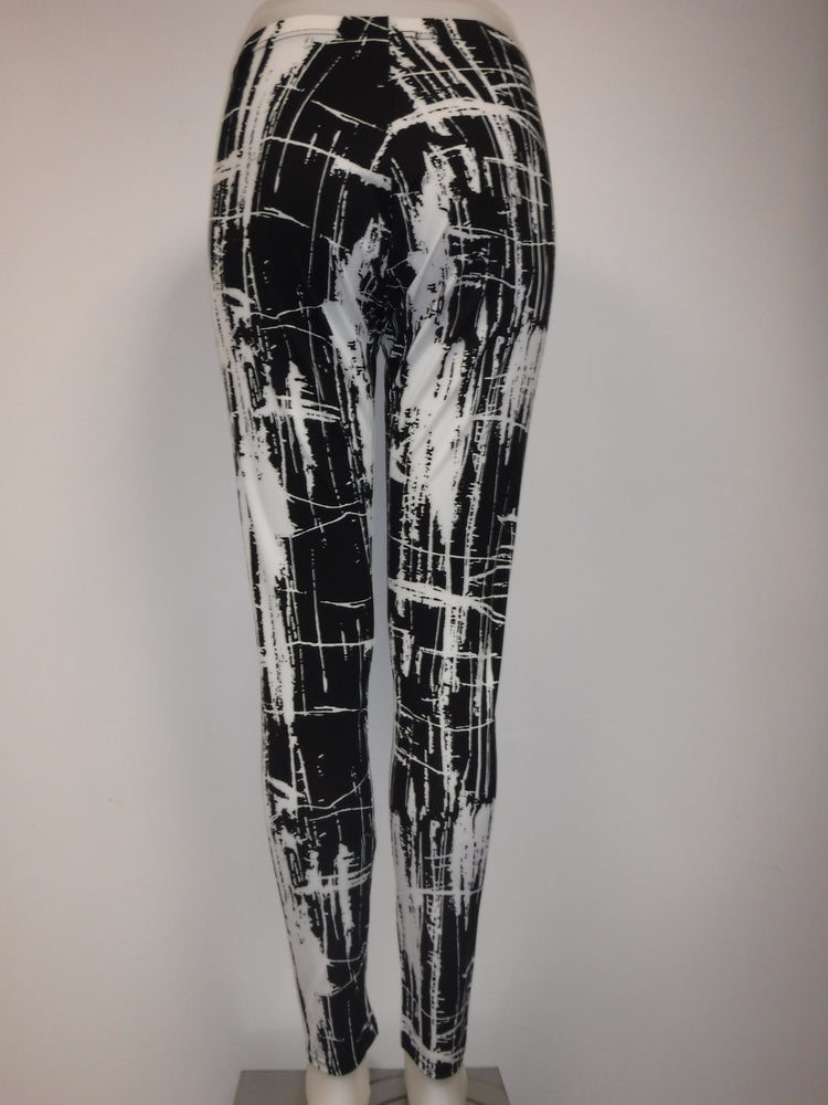 Printed Legging, Black and White