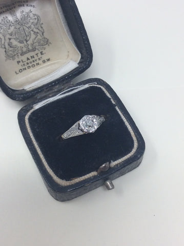 Gorgeous Art Deco Diamond Solitaire Ring