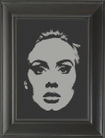 Adele on Black 02 - Cross Stitch Pattern Chart