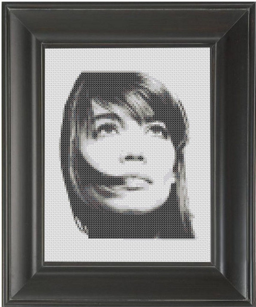 Françoise Hardy - Cross Stitch Pattern Chart