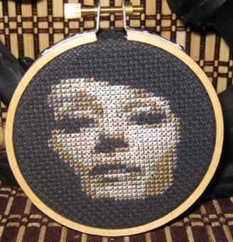Audrey Hepburn Threezle - Cross Stitch Pattern Chart