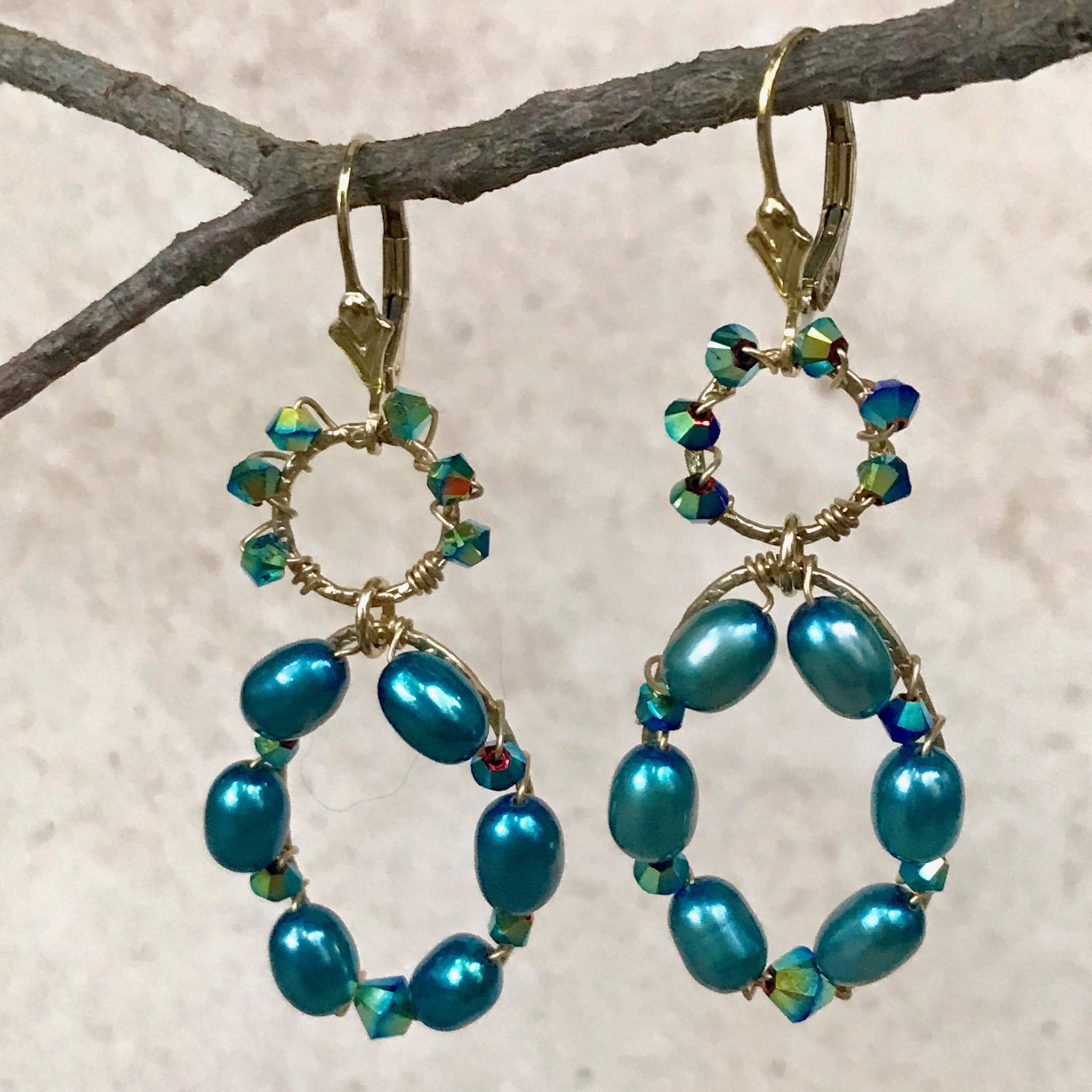 Pearl Delight — Turquoise Earrings