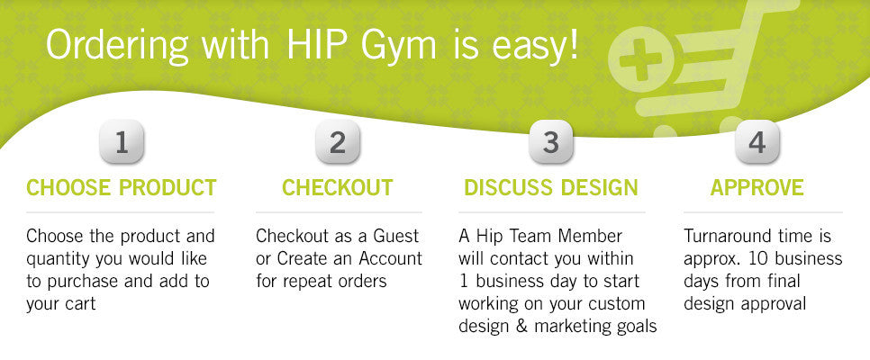 Ordering with Hip Gym is Easy