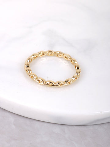 Chain Link Ring Anarchy Street Gold