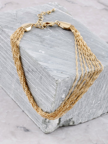Twisted Chains Anklet Anarchy Street Gold