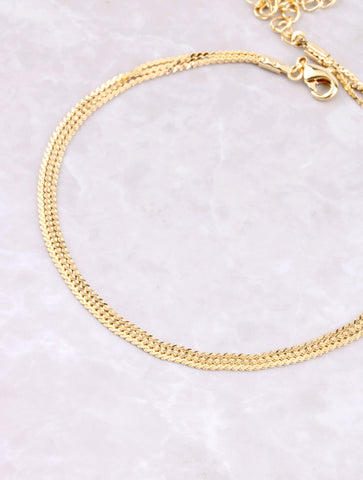 Triple Layered Anklet Anarchy Street Gold