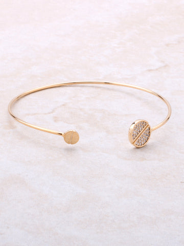 Pave Screw Bangle