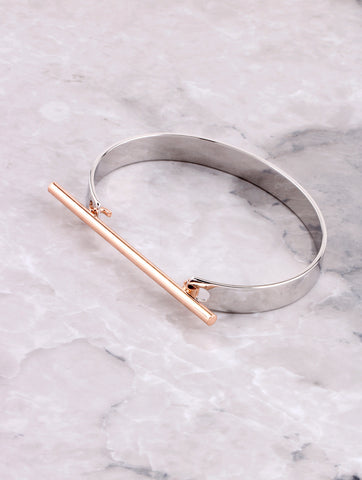 Two Tone Bar Bracelet Anarchy Street Rosegold