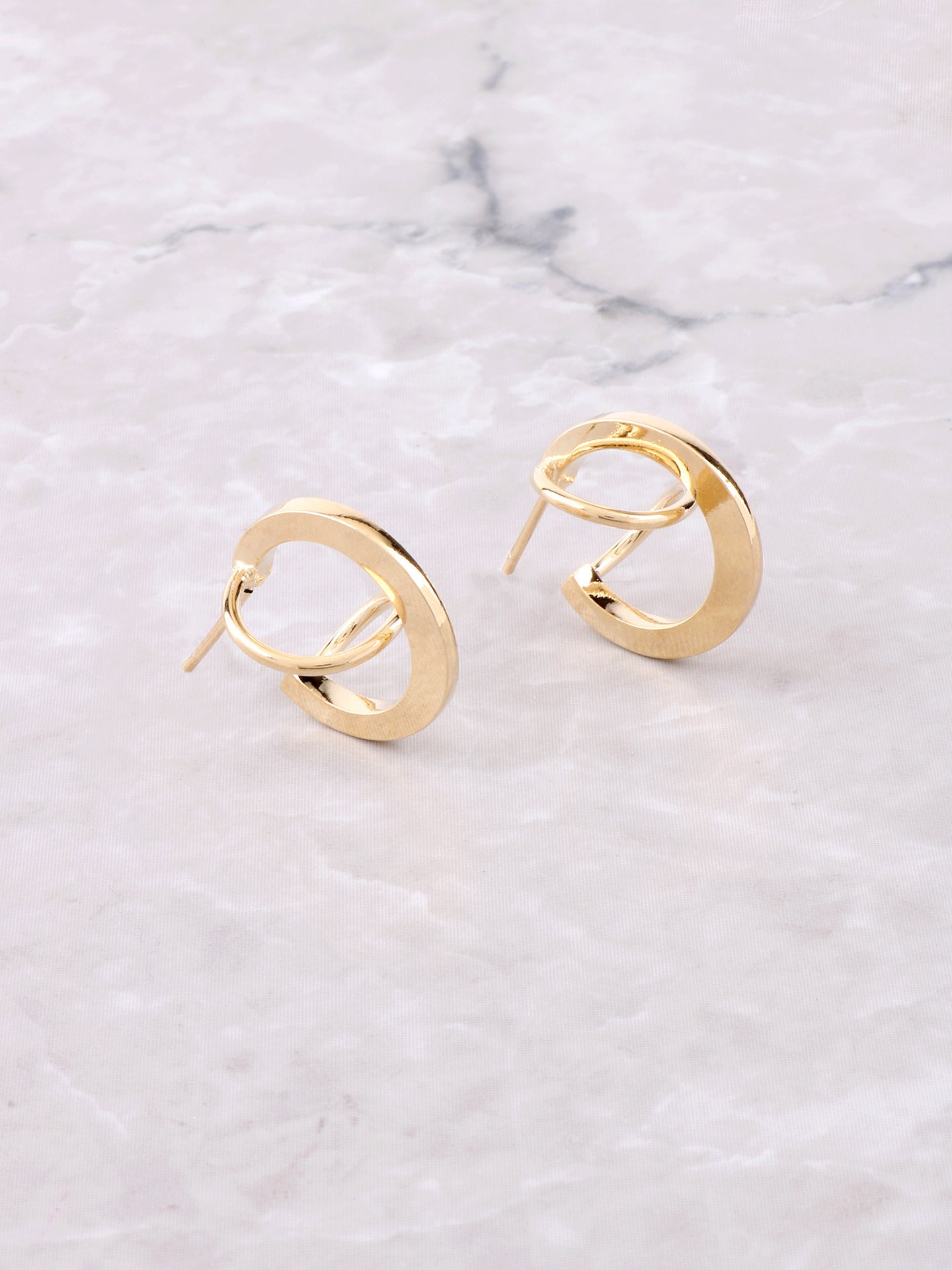 Twisted Stud Earring Anarchy Street Gold