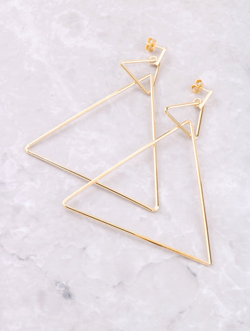 Triangle Hoop Earring Anarchy Street Gold