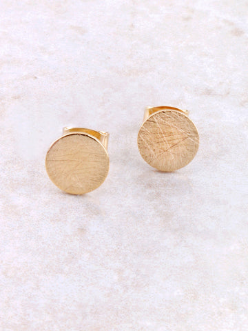Matte Button Earring