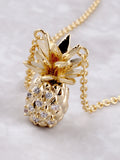 Pave Pineapple Pendant Necklace Anarchy Street Gold - Details