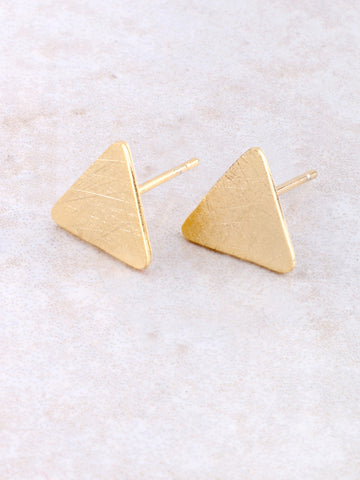 Matte Triangle Earring