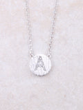 Circle Initial Necklace Anarchy Street Silver A