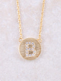 Circle Initial Necklace Anarchy Street Gold B